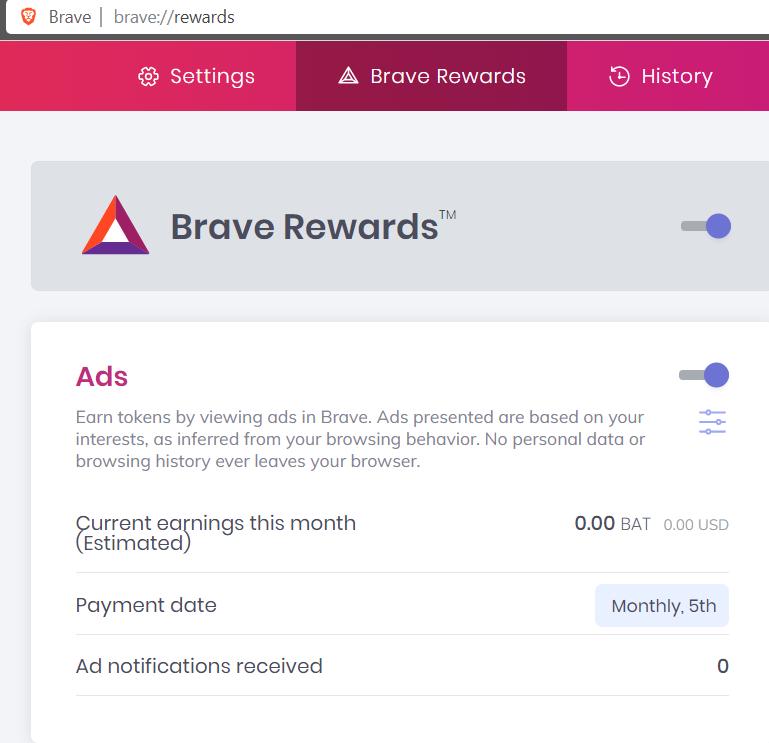 Brave Rewards: BAT Token als Entschädigung für Werbeeinblendungen