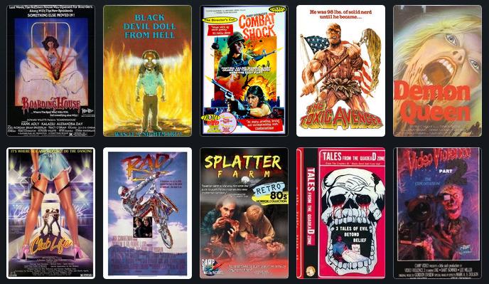 Splatterfilme waren eines der beliebtesten Genres zu zeiten der VHS-Kassetten.