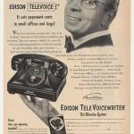 Edison TeleVoice TeleVoiceWriter Dictation Phone (1953)
