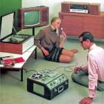 Hi-tech reel-to-reel home recording, 1960s.