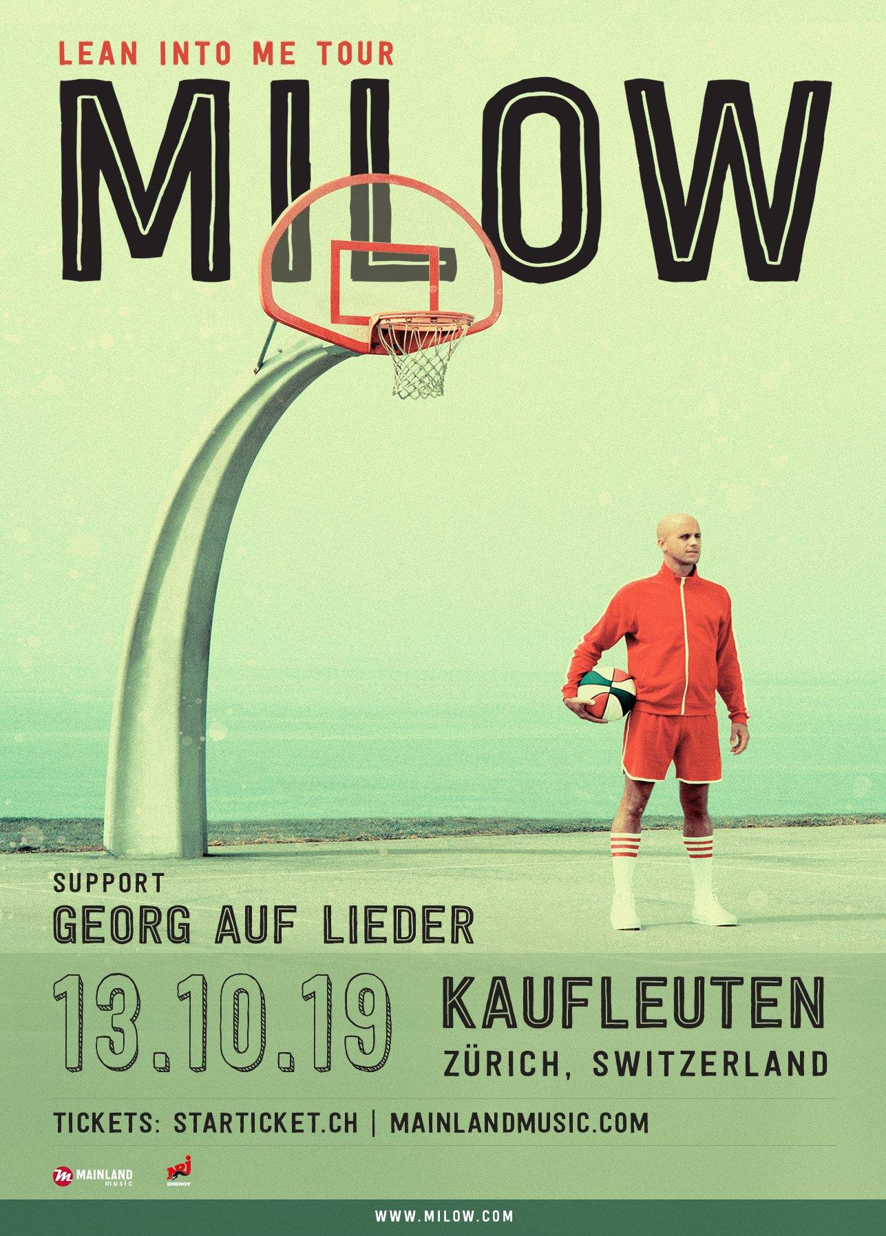 Milow ist aus der Schweizer Musiklandschaft nicht mehr wegzudenken. Über 15 Konzerte und zahlreiche Chartplatzierungen kann der belgische Singer/Songwriter hierzulande verbuchen.