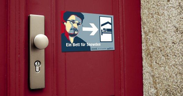Bett für Snowden