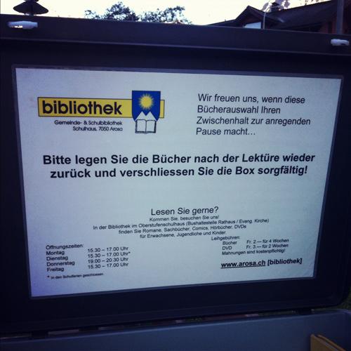 Bücherbox in Arosa - Anleitung