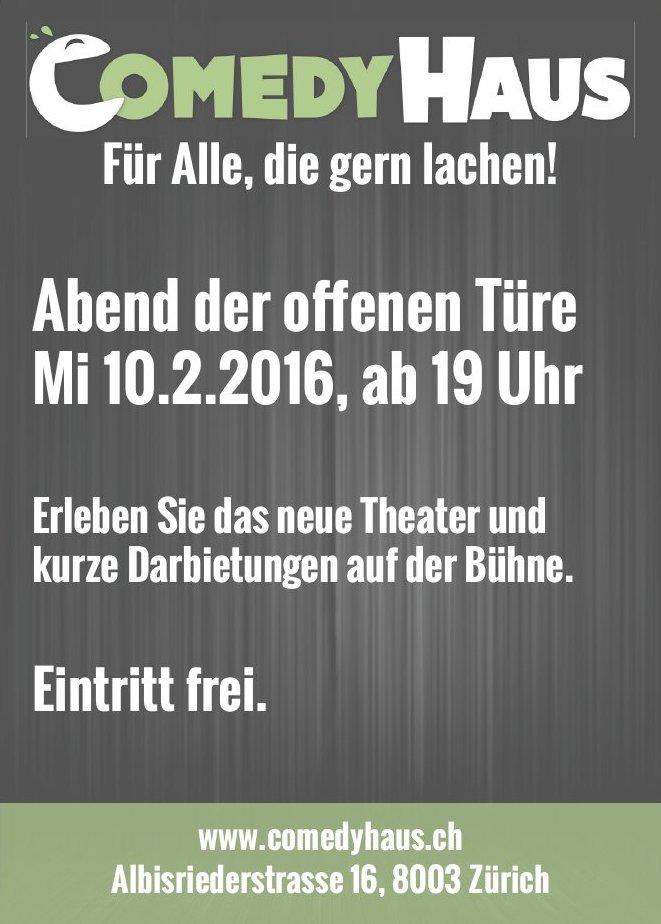 Comedy Haus Zürich: Abend der Offenen Tür