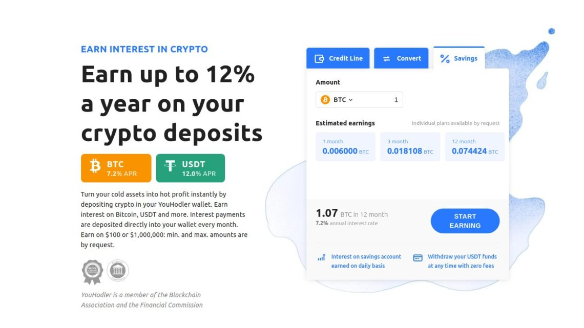 YouHodler: Verdiene 12% mit deinen Bitcoin-Guthaben!