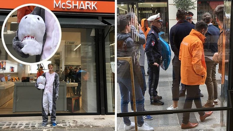 Haifisch angezeigt: Internationaler Spott über Burka-Verbot