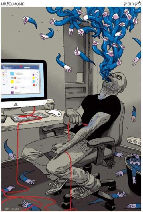Süchtiger auf der Suche nach Facebook-Likes!
