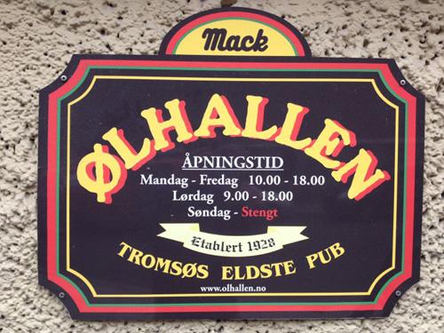 Pub in Tromsø, Norwegen